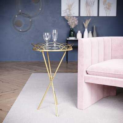 Frias Gold Accent Table - Wayfair
