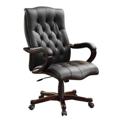 Office Star Products Dixon Black Executive Chair - Home Depot