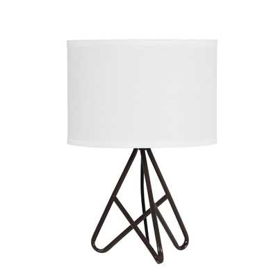 ORE International 17.5 in. Watson Espresso Metal Tripod Table Lamp - Home Depot