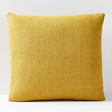 "Silk Hand-Loomed Pillow Cover, Dark Horseradish, 20""x20"" - West Elm"