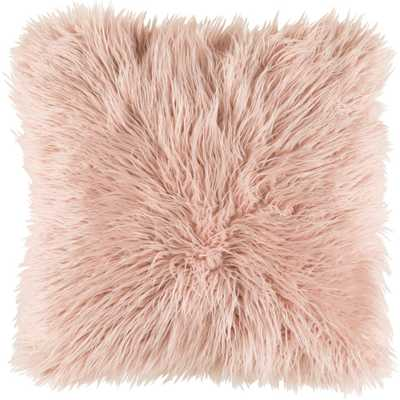 "Camberwell Poly Euro Pillow, Pink 18""x18"" - Home Depot"