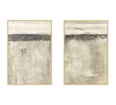 "Neutral Sense Framed Canvas, Set of 2 - 31.5"" x 45.5"" - Pottery Barn"