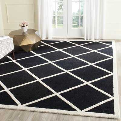 Martins Hand-Tufted Wool Black/White Area Rug - Wayfair
