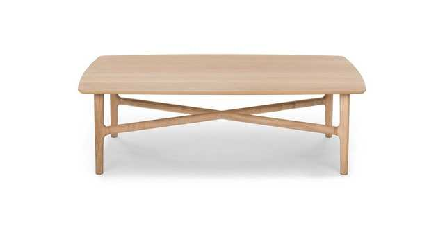Brezza Light Oak Rectangular Coffee Table - Article