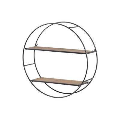 Enright Metal Round Wall Shelf - Wayfair