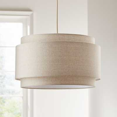 Avery Linen Double Drum Pendant Light - Crate and Barrel