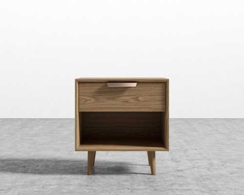 Asher Single Drawer Night Stand - Ash Veneer - Rove Concepts