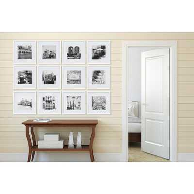Gallery Perfect 8 in. x 8 in. White Collage Picture Frame Set - Home Depot