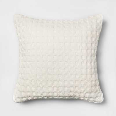 Waffle Square Throw Pillow White - Threshold - Target
