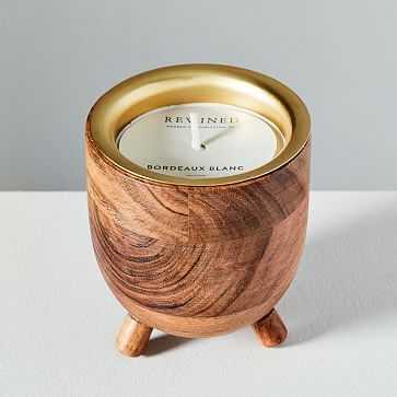 Rewined Barrel Candle, Bordeaux - West Elm
