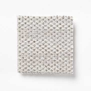 Upholstery Fabric by the Yard, Basket Slub, Feather Gray - West Elm