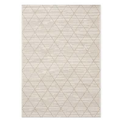 Faux Natural Grace Diamond Indoor/Outdoor Rug, 8x10', Antique White - Williams Sonoma