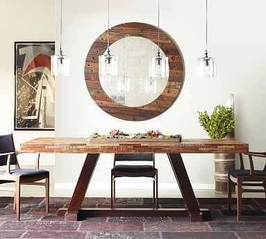 Langton Reclaimed Wood Dining Table, Natural - Pottery Barn