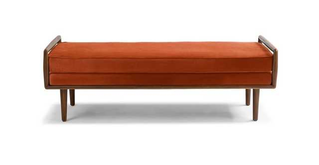 Ansa Persimmon Orange Bench - Article