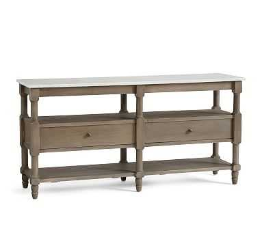 Alexandra Media Console, Gray Wash - Pottery Barn