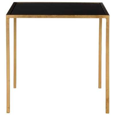 Kiley Gold and Black Glass Top End Table, Gold/Black - Home Depot