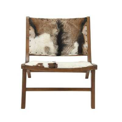 Teak Hide Lounge Chair - Wayfair