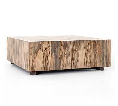 Terri Coffee Table, Primavera Wood/Oxidized Iron - Pottery Barn