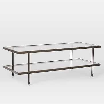 Fulton Coffee Table, Antique Bronze - West Elm