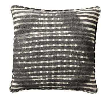 "Shibori Diamond Pillow, Gray, 20"" - Pottery Barn"