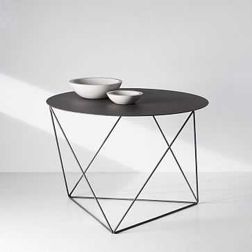 Amigo Modern Octahedron Side Table, Matte Gray - West Elm