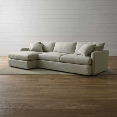 Lounge II 2-Piece Sectional Sofa Left Chaise - Crate and Barrel