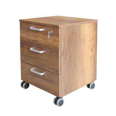 West Wick Wood 3-Drawer Mobile Vertical Filing Cabinet - Wayfair
