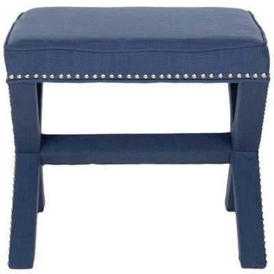 Palmer Navy (Blue) Accent Ottoman - Home Depot