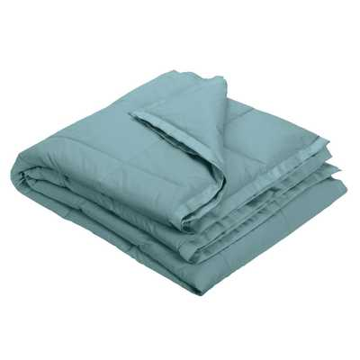 LaCrosse Sea Mist Cotton Down Twin Quilted Blanket - Home Depot