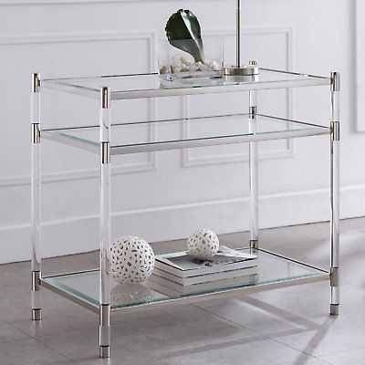 Everly Quinn Hoddesd End Table: Silver - eBay