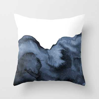 """Watercolor Splash in Blue Throw Pillow - Indoor Cover (18"""" x 18"""") with pillow insert by Beckybailey1 - Society6"""