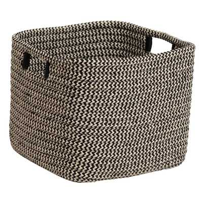 Colonial Mills Carter Black 12 in. x 12 in. x 10 in. Square Polypropylene Braided Basket - Home Depot