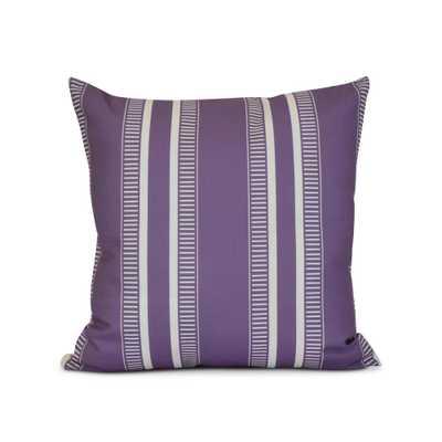 E by Design 16 in. Purple Dashing Stripe Print Pillow, Purples/Lavenders - Home Depot
