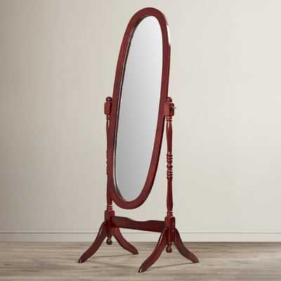 Oval Wood Floor Mirror - Wayfair