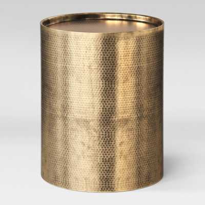 Manila Cylinder Drum Accent Table Brass - Project 62 - Target