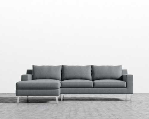 Sophia Sectional - Concrete Left-hand-facing Chrome - Sophia - Rove Concepts
