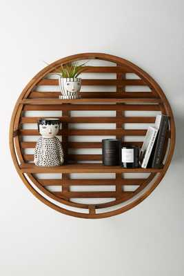 Wooden Wheel Shelving Unit - Anthropologie