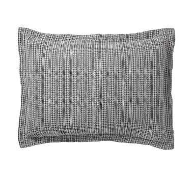 Honeycomb Sham, Standard, Gray - Pottery Barn