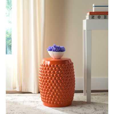 Safavieh Stella Nail Orange Head Patio Stool - Home Depot