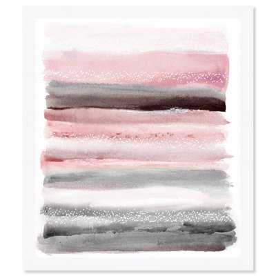 'Pink Sunset' Framed Watercolor Painting Print - AllModern