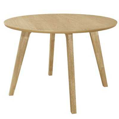 Minjares Round Dining Table Danish Natural - Wayfair