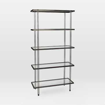 Fulton Bookshelf, Antique Bronze - West Elm