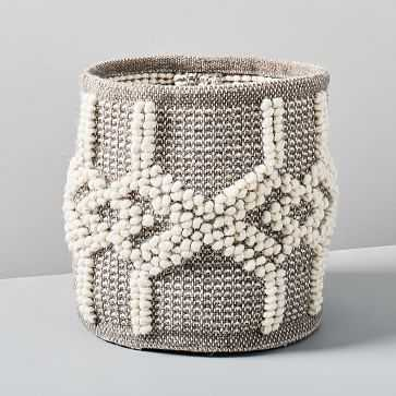 Sweater Knit Basket, Gray - West Elm