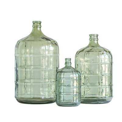 Kelling Large Transparent Reproduction Glass Decorative Bottle - Wayfair