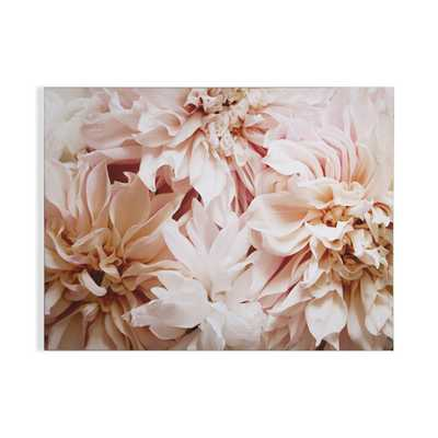 "32 in. x 24 in. ""Blushing Blooms"" Printed Wall Art, Pink/White - Home Depot"