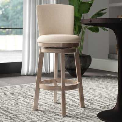 "Amaranthe 24"" Swivel Bar Stool - Wayfair"