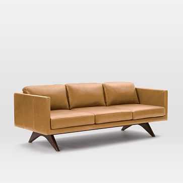 """Brooklyn 81"""" Sofa, Charme Leather, Sienna - West Elm"""