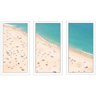 """Beach Please V"""" 3 Piece Framed Painting Print Set - Wayfair"""