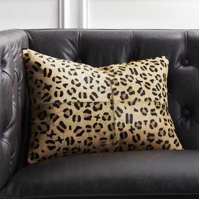 """18""""x12"""" Hide Cheetah Print Pillow with Down-Alternative Insert"" - CB2"