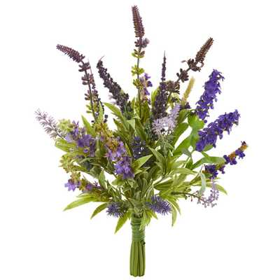 Nearly Natural Indoor Lavender Artificial Flower Bouquet (Set of 3) - Home Depot